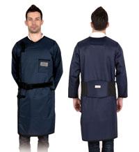 长袖双面连体防护衣重叠卡扣型 C222